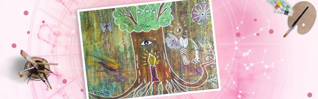 Seelenzauberbild als Header Malen kreativ sein